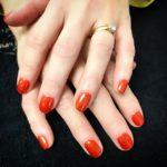 Burnt orange nails