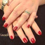Red glitter nails