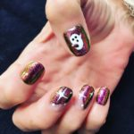 Glitter nails with nail art